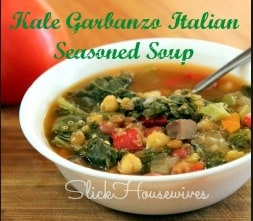 Kale Garbanzo Italian Seasoned Soup Recipe