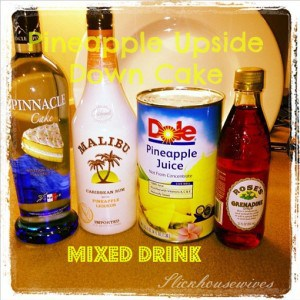 mixed drinks pineapple upside down cake recipe