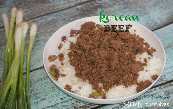 Korean Beef Recipe using Ground Beef