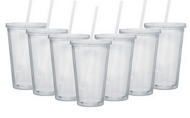 DIY Acrylic Tumblers w/ Straw and Lid Gift Idea