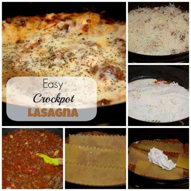 Easy Crockpot Lasagna Recipe