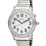 TimeOptics Talking Silver Tone Expansion Bracelet Watch $59.95 {Reg. $90}