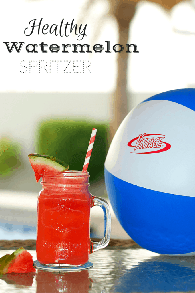 Healthy watermelon spritzer