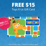 FREE $15 Toys R Us Gift Card