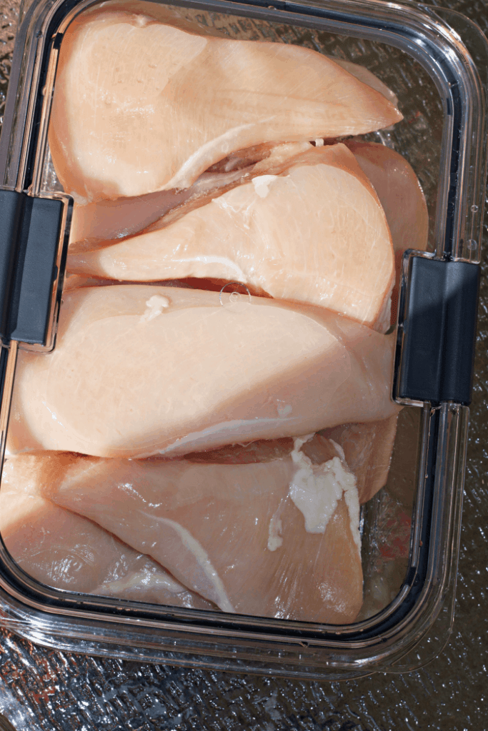 Chicken in Rubbermaid