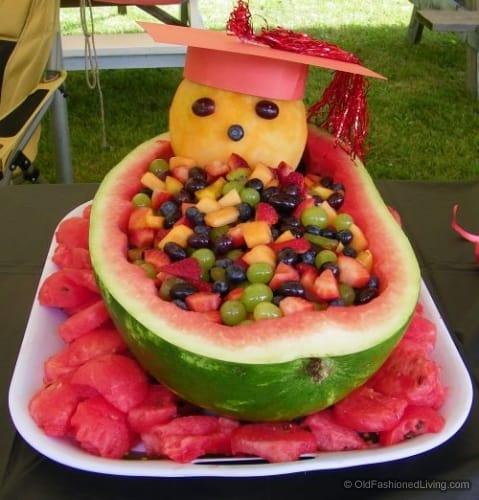 Graduation Watermelon Carving