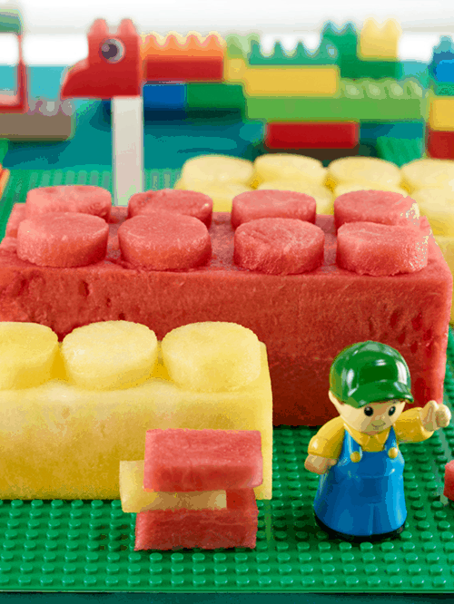 Watermelon Legos Carving