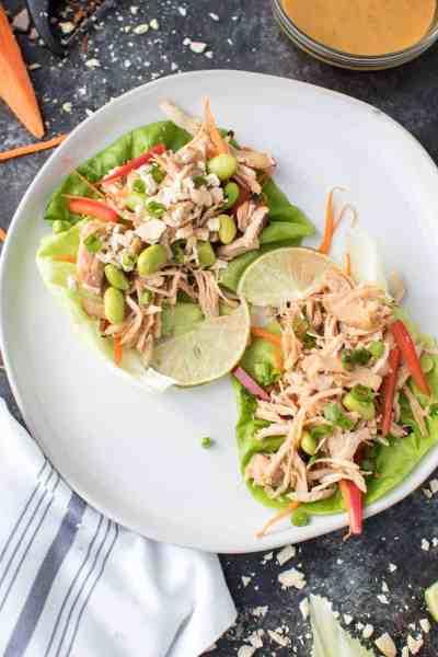 Instant Pot Pad Thai Chicken Lettuce Wraps Recipe
