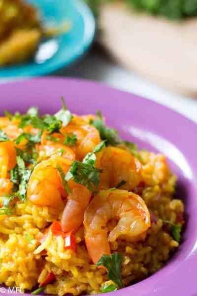 Pressure Cooker Shrimp Paella Recipe