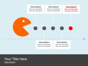 PowerPoint Slide  Timeline Diagram  Pac man  Circles