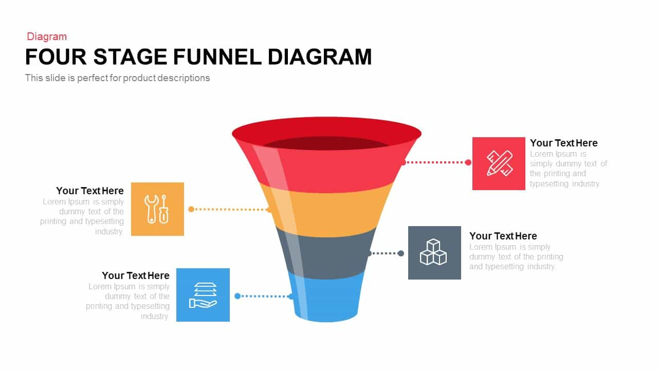4 And 5 Stage Funnel Diagram Powerpoint Template And Keynote