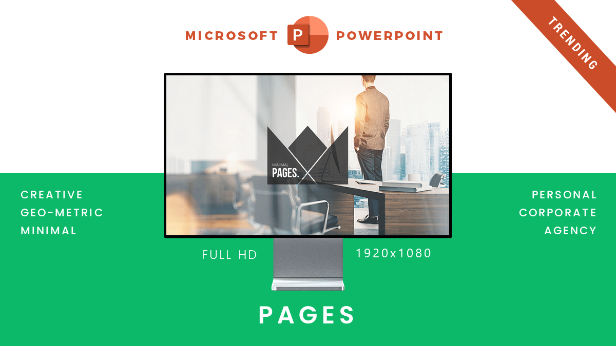Page presentation template cover