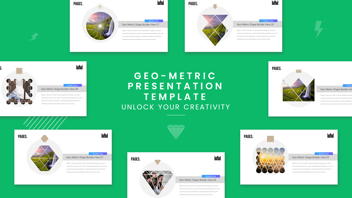 Page presentation template title