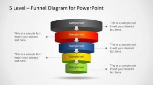 5 Level Funnel Diagram Template for PowerPoint  SlideModel