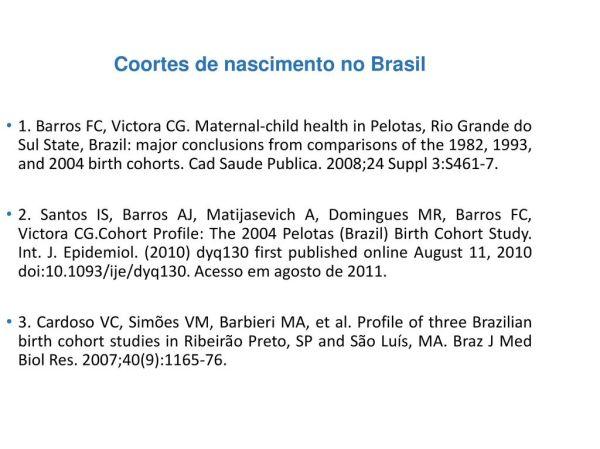 Epidemiologia Analítica Estudos de coorte - ppt carregar
