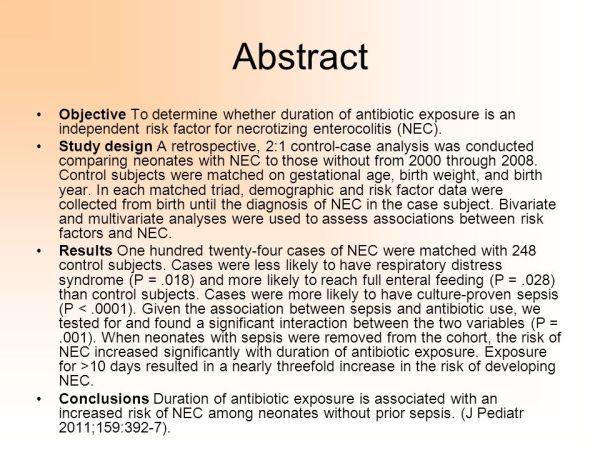 Exposição a antibiótico na UTI neonatal e o risco de ...