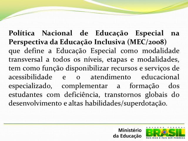 Resultado de imagem para POLÍTICA NACIONAL DE EDUCAÇÃO INCLUSIVA