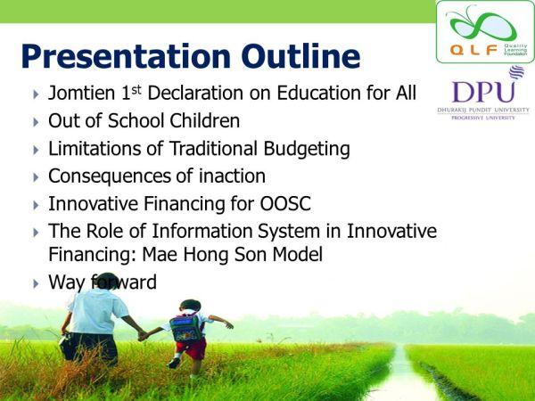Innovative Financing for Out-of-school Children Varakorn ...