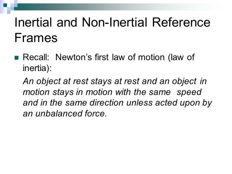 Define Non Inertial Frame Of Reference Physics | Frameswalls.org