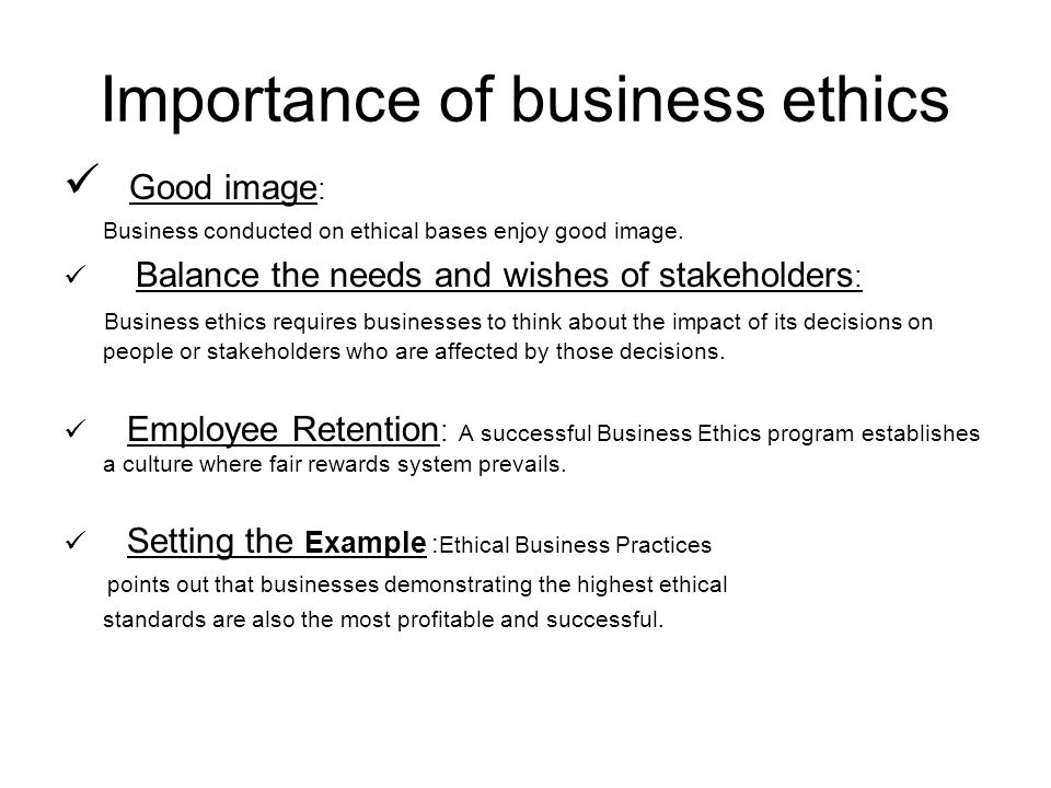 Culture Ethical Importance
