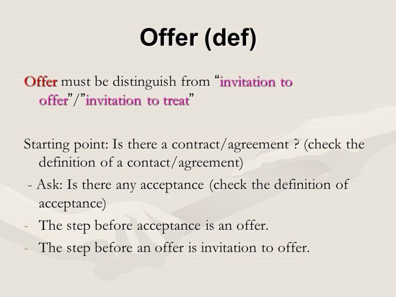Offer and invitation to offer invitationjpg 2 contract law 1 introduction making a ppt stopboris Image collections