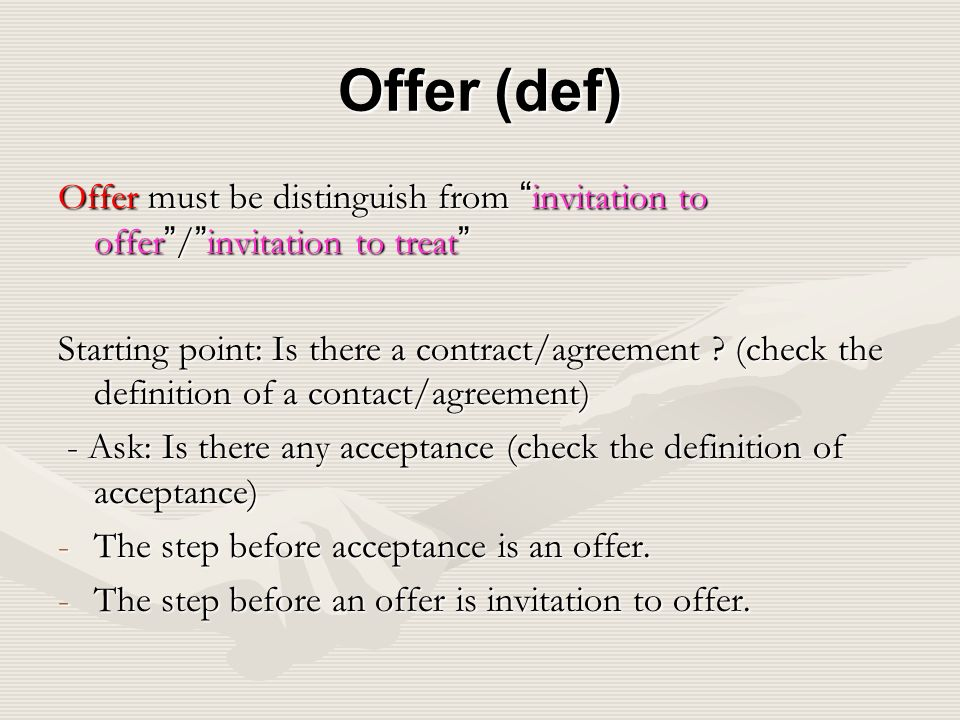 An invitation to offer is not an offer invitationjdi offer invitation to treat homework help woassignmentcuho stopboris Choice Image