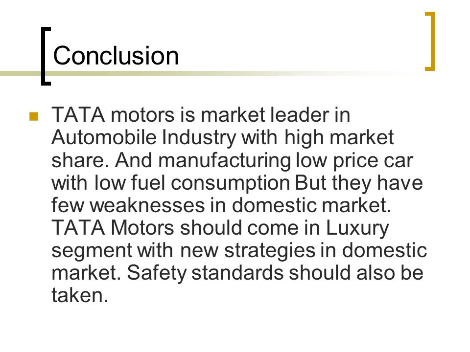 Tata motors project conclusion newmotorspot swot analysis of a company ppt online asfbconference2016 Image collections