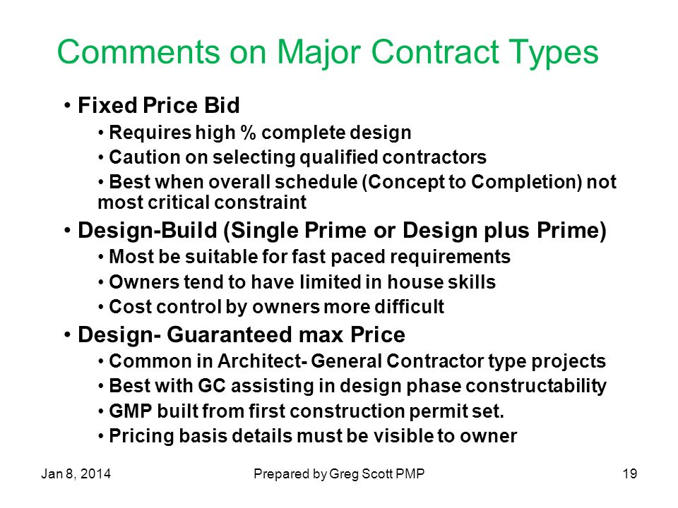 Types Of Aia Construction Contracts