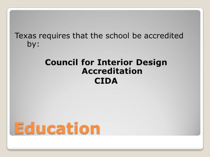 Interior Design License Requirements Ppt