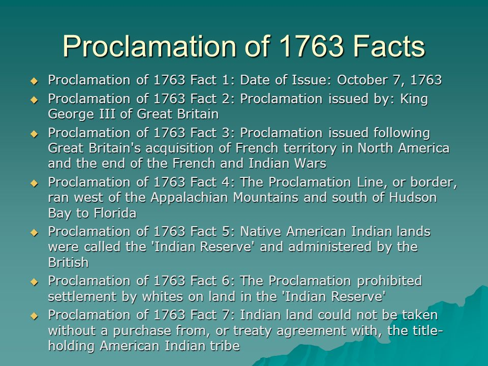 King George Proclamation 1763 Line