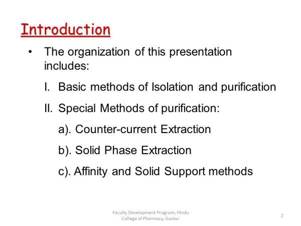 Purification Techniques - ppt download