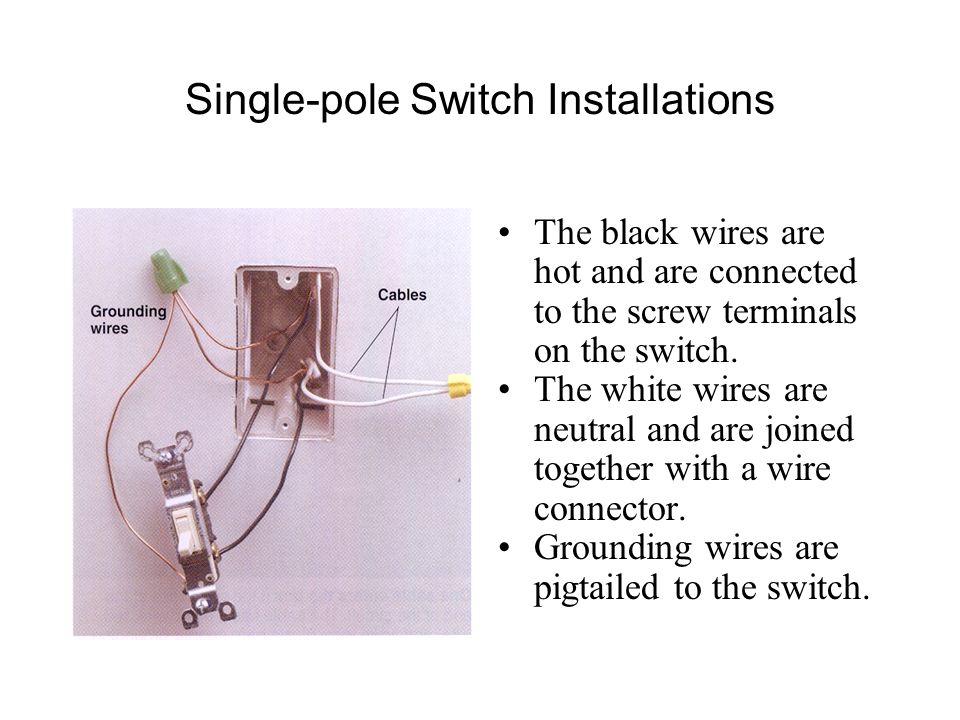 Ground Switch Black White And