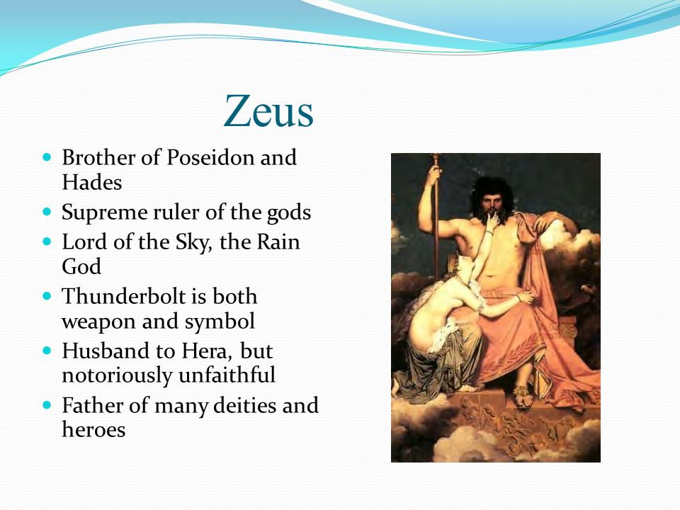 Image result for images of zeus greek god