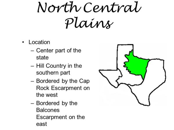REGIONS OF TEXAS GREAT PLAINS NORTH CENTRAL PLAINS GULF ...