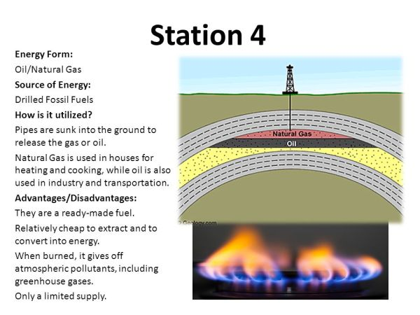 Station 1 Energy Form: Solar Source of Energy: Sun How is ...