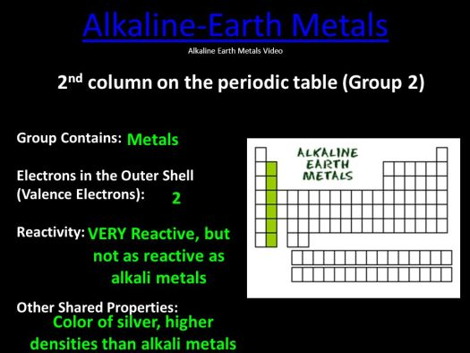 3 alkaline earth metals 2nd column on the periodic table group 2 contains periodic table families ppt online - Periodic Table Group 2 Alkaline Earth Metals