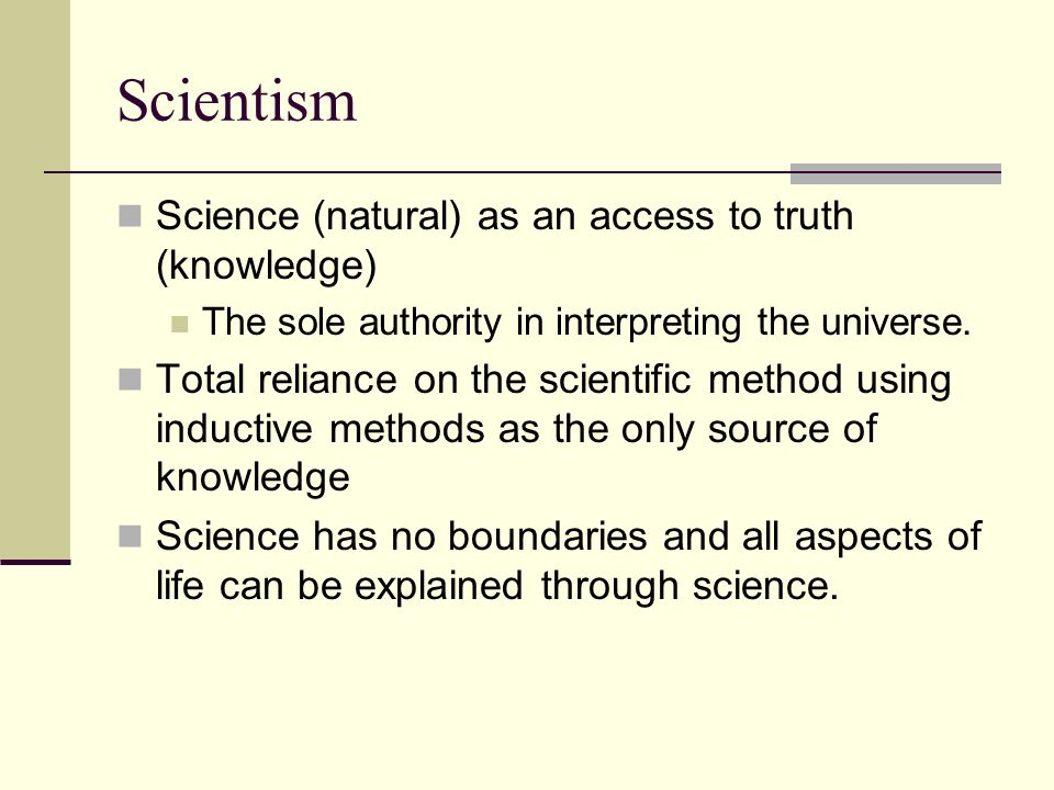 Image result for scientism