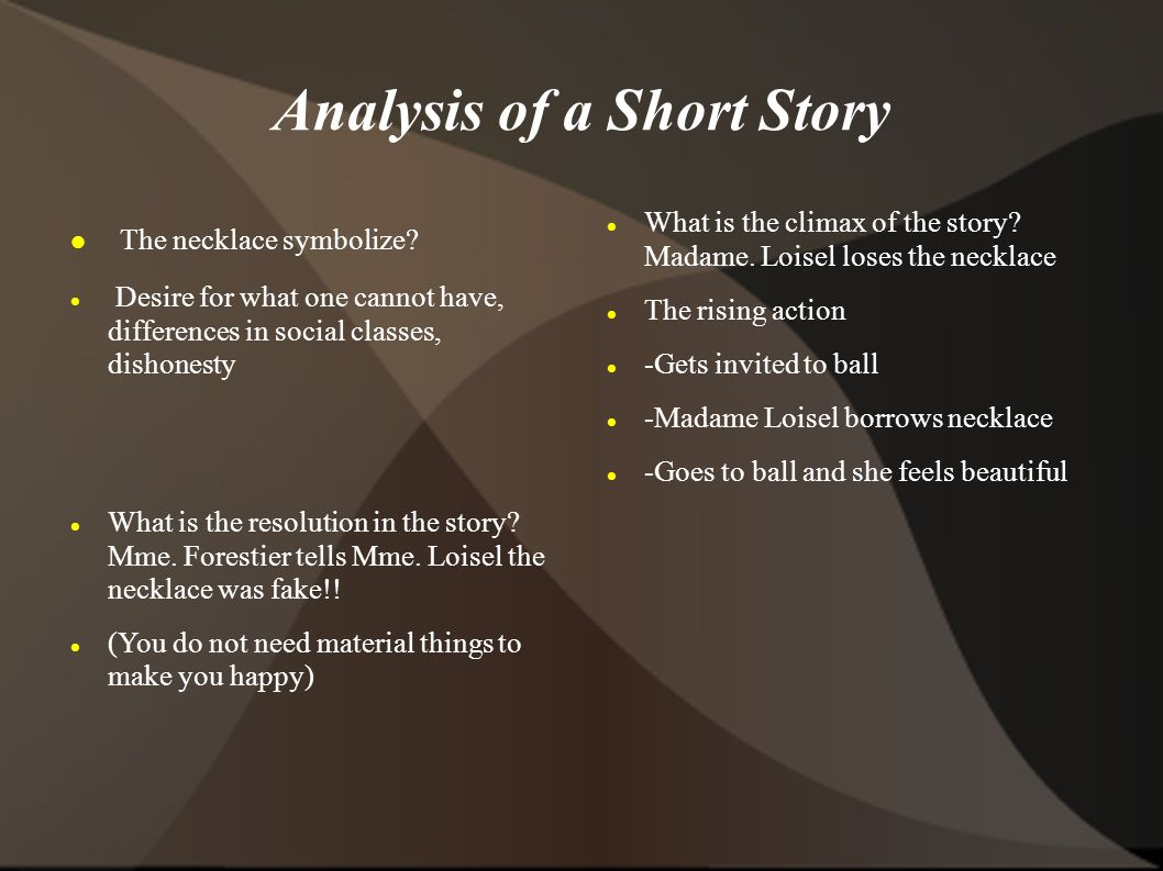 How Toyze A Short Story Literaryysis Using Elements Of Literature 01 06