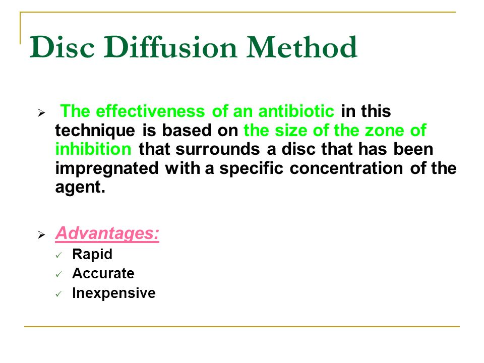 Disk Antibiotic Diffusion