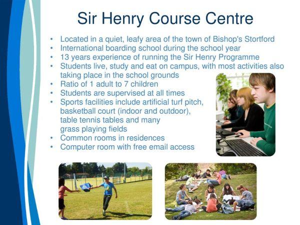 Sir Henry Summer Camp. - ppt download