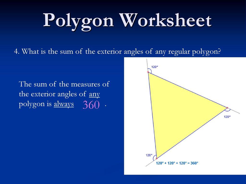 Polygon Worksheet 1 Concave Polygon Convex Polygon