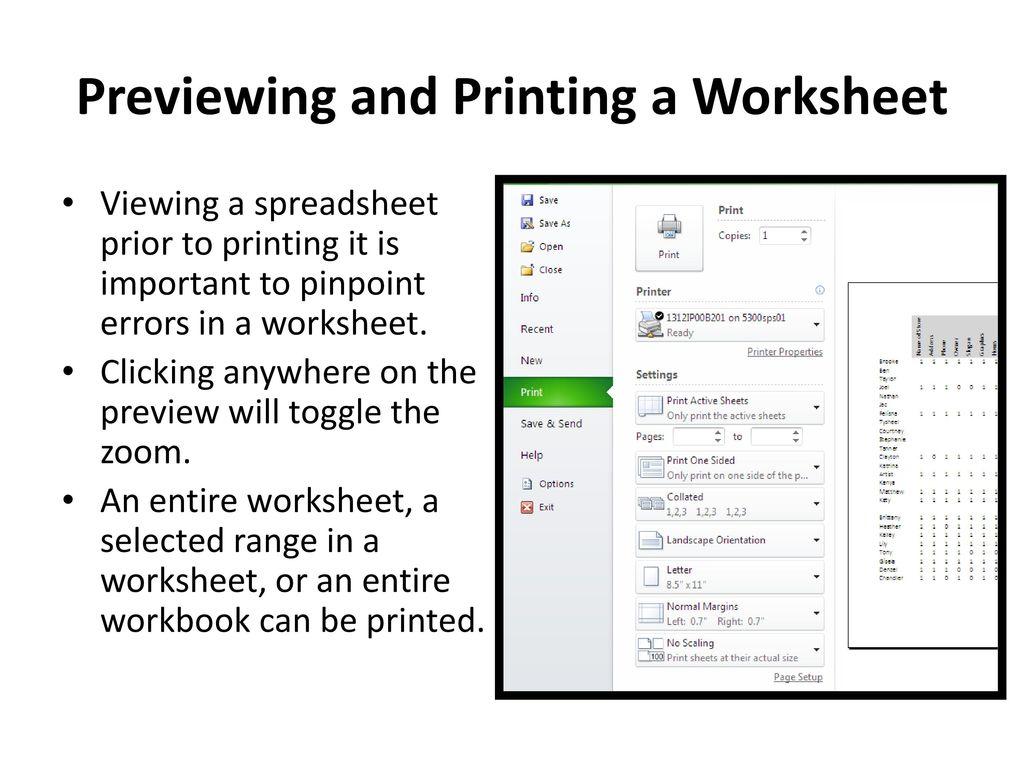 Understanding Microsoft Excel