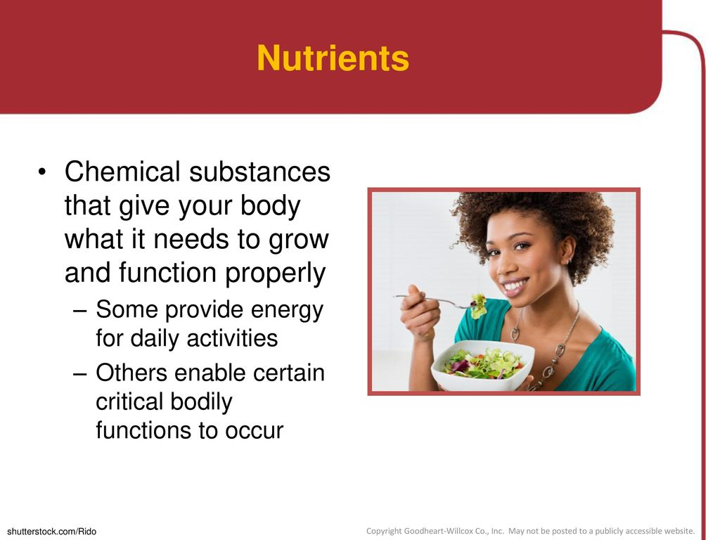 Chapter 3 Nutrition Lesson 3 1 What Nutrients Does Your Body Need Lesson 3 2 Creating A Healthy