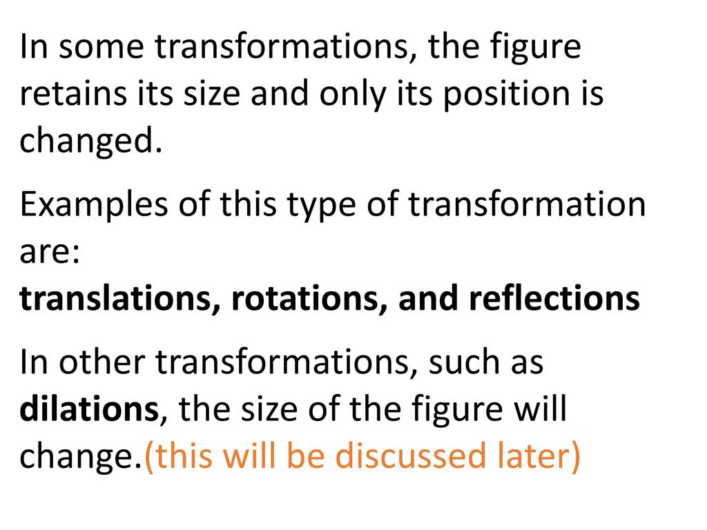 Topic 1 Transformations And Congruence Amp Geometry Notation