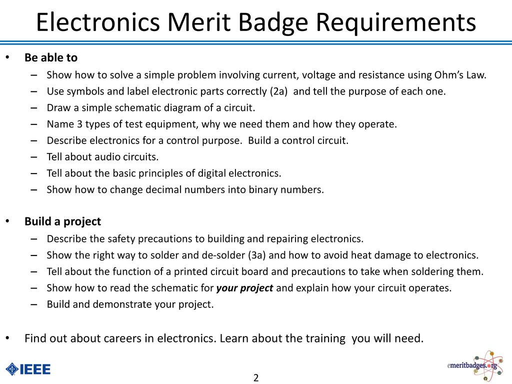 Pictures Electronics Merit Badge Worksheet