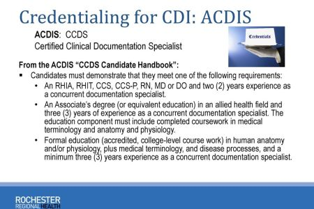 Free Resume 2018 » clinical documentation specialist certification ...