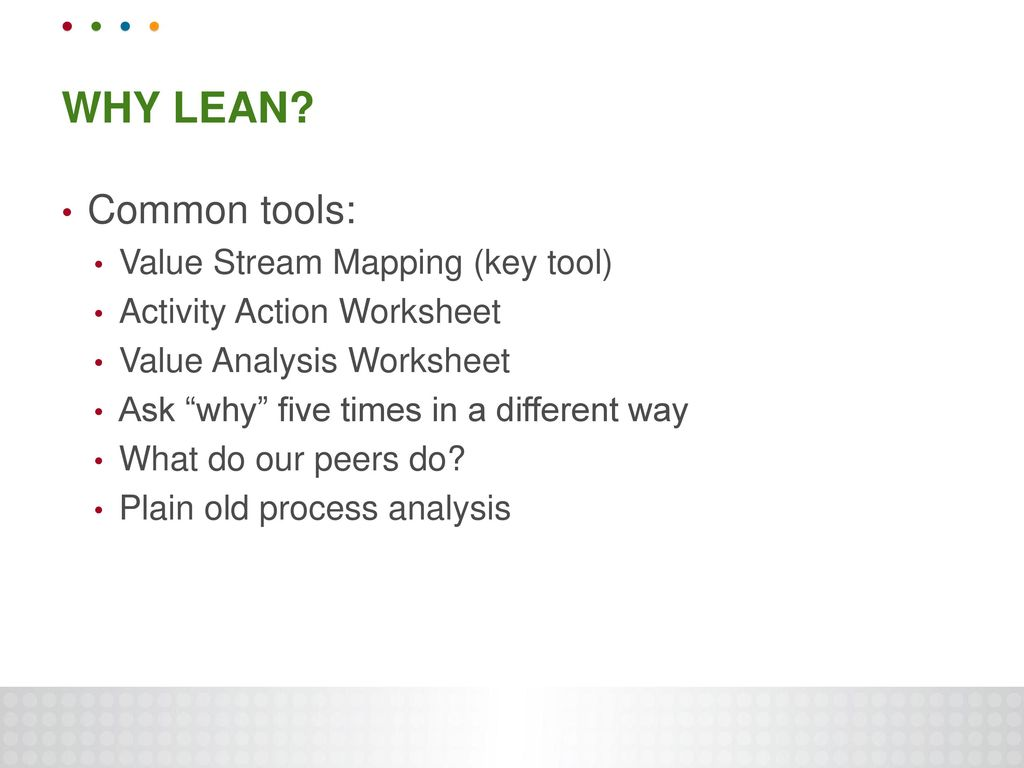 Improving Processes Through The Use Of Lean