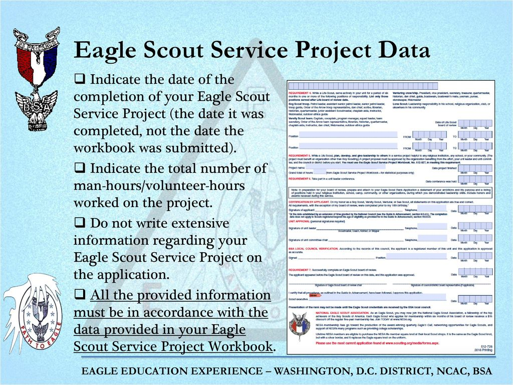 Completing The Eagle Scout Rank Application