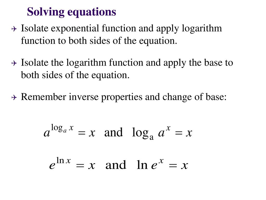 Exponential And Logarithm Functions