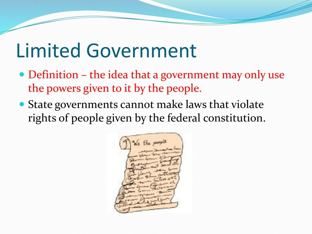The Gallery For Gt Limited Government In The Constitution Examples